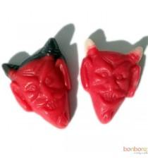 Bonbon tête de diable rouge