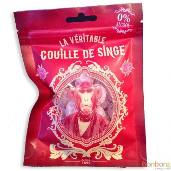 Couilles de singe - bonbons citriques à la cerise - fabrication belge