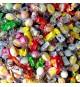 Mélange de bonbons emballés