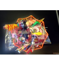 panier toile d'araignée Halloween - 1 kg
