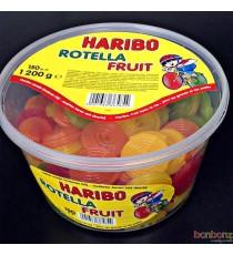 150 bonbons Haribo - Lacet Rotella fruit 1200 gr.