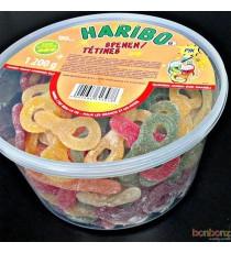Sucettes citriques Haribo - 1200 gr. - 150 bonbons