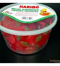 150 bonbons Haribo fraises géantes - 1350 gr.