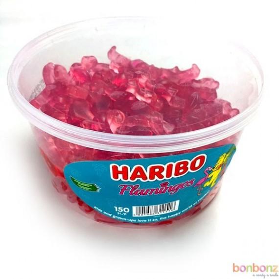 Flamingos Haribo - 150 pièces dans une boîte
