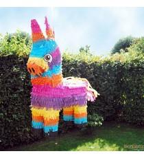 Piñata âne multicolore