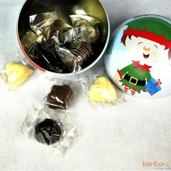 Boule de Noël - chocolat fondant, lait, blanc - 130g