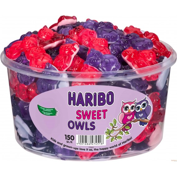Sweet Owls Haribo - 150 Pc