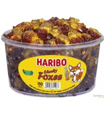 Haribo Cheeky foxes tubo - 150pc