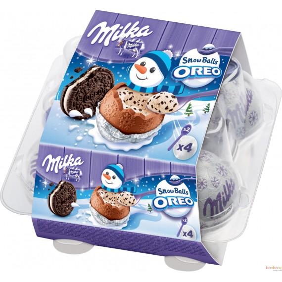 Milka Snow Balls - confiserie au chocolat fourrée lait
