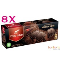 Côte d'Or Mignonnettes chocolat noir de noir - 12 boîtes de 24 x 10g