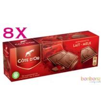 Côte d'Or Mignonnettes chocolat au lait - 12 boîtes de 24 x 10g
