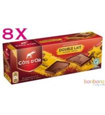 Côte d'Or Mignonnettes chocolat double lait - 12 boîtes de 21 x 10g