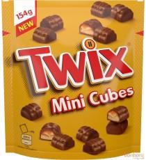 Twix Mini-cubes - 154g x 9 pochettes