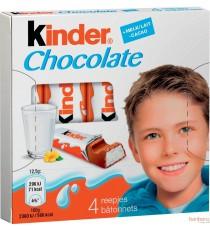 Kinder barrette - 20 boîtes - chocolat au lait