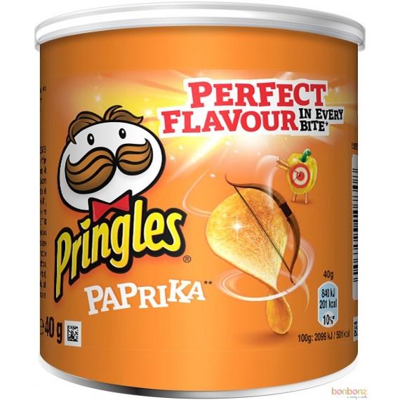 Pringles chips au paprika - biscuit apéritif - mini boîte 40g