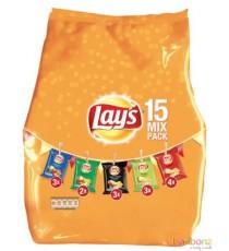 Chips Mix pack Lay's - 5 variétés, 12 x 15 pièces - 412,5g