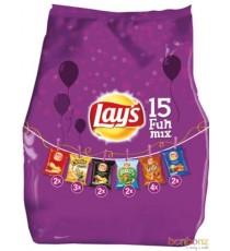 Chips Fun Mix Lay's - 6 variétés, 12 x 15 pièces - 371g