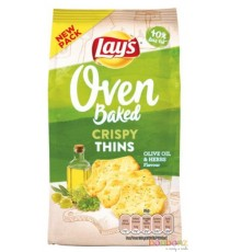 Lay's Oven Baked - Crispy Thins - Olive oil & herbs 90g - 10p