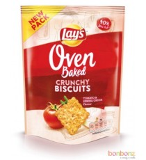 Lay's Oven Crunchy Biscuits -   tomato & spring onion - 20 x 35g