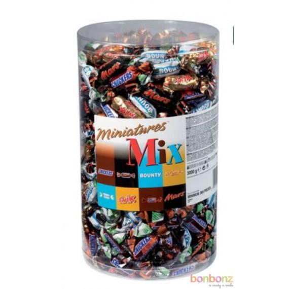 Mélange de Miniatures Célébrations - Mars, Snickers, Bounty, Twix