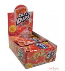 Sucette Crazy Dips fraise - avec poudre citrique