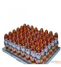 Boîte de 48 figurines Saint-Nicolas chocolat 60 gr.