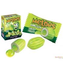 Bubble Gum Melons (coeur liquide) - 20 pieces - Bonbons Fini