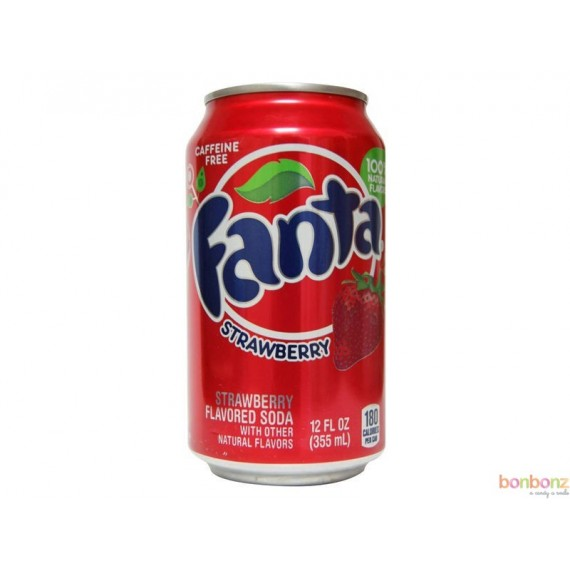 Fanta strawberry - soda aux arômes naturels de fraise - sans caféine