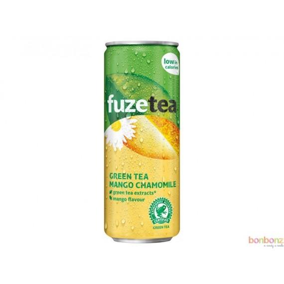 Fuze Tea green Tea peach, camomille, thé glacé à la mangue, camomille