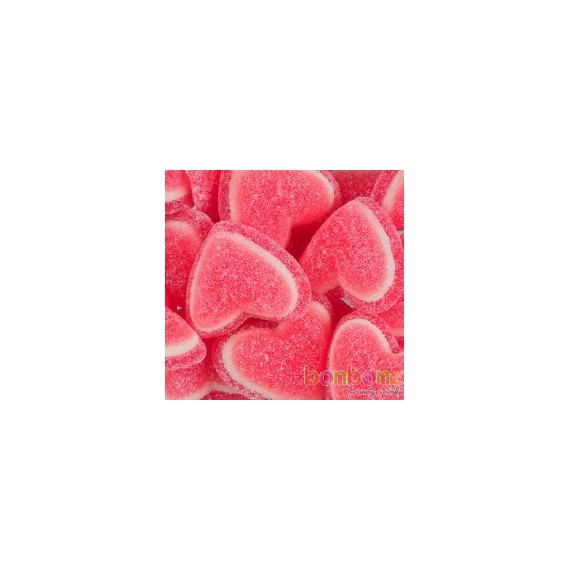 Coeur tricolore - bonbons, gommes tendres à la fraise