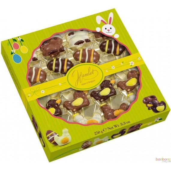 Boîte assortiment de figurines de Pâques - 250gr