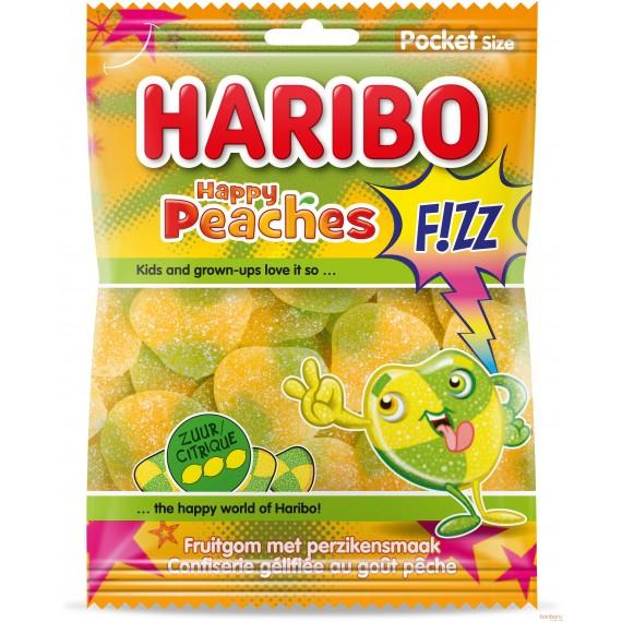 Haribo Happy Peaches Fizz - Pocket size - 70 gr