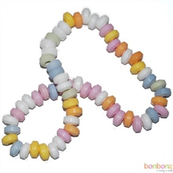 Colliers de bonbons en dextro multicolores - anniversaire enfant