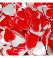 Coeur rouge et blanc - Bonbons Astra Sweets