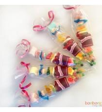 brochettes de bonbons pour anniversaire - 100 gr.