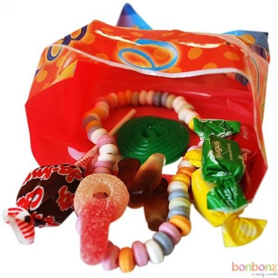Sachet de bonbons pour anniversaire m lange de bonbons anniversaire - Fabriquer sachet bonbon anniversaire ...