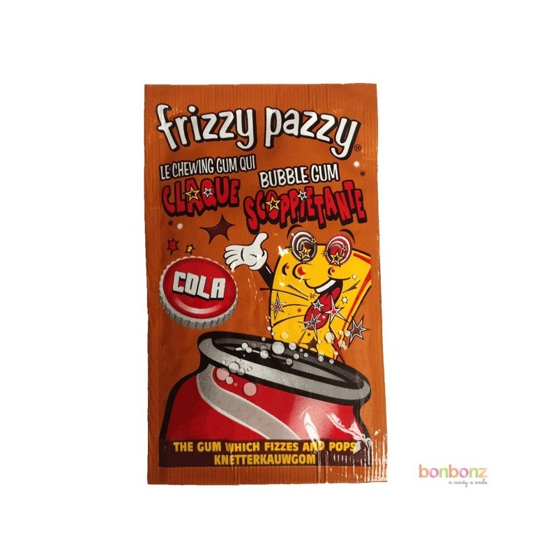 Frizzy pazzy cola le chewing gum qui claque bonbonz for Porte qui claque