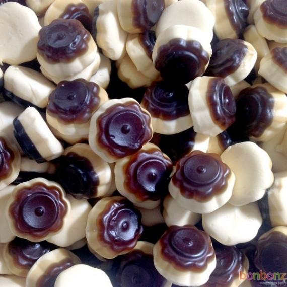 Bonbons Flanbotti Haribo, des bonbons au goût de flan au caramel