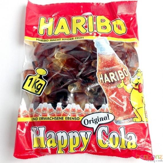 Happy Cola Giant - bonbons Haribo - bouteille coca